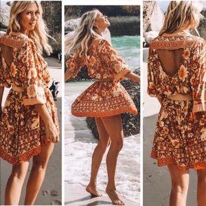 Dresses & Skirts - COMING SOON! BOHO GYPSY AMBER AMETHYST MINI DRESS